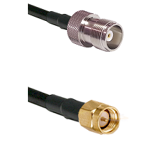 HN Female Connector On LMR-240UF UltraFlex To SMA Male Connector Cable Assembly
