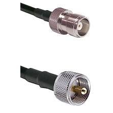 HN Female Connector On LMR-240UF UltraFlex To UHF Male Connector Cable Assembly