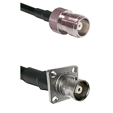HN Female on RG214 to C 4 Hole Female Cable Assembly