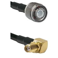 HN Male Connector On LMR-240UF UltraFlex To SMA Reverse Thread Right Angle Female Bulkhead Connector