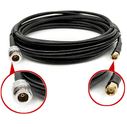 SMA Male Reverse Polarity To N Female Low Loss LMR-240 Cable 15FT