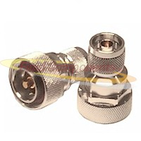 7/16 DIN Male Plug to N Male Plug Adapter Silver Plated Brass 50ohm