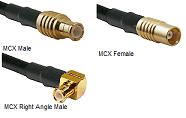 MCX RG-400 M17/128 Cable Assemblies