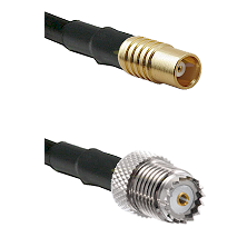 MCX Female on LMR100 to Mini-UHF Female Cable Assembly