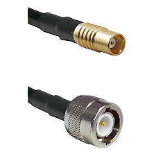 MCX Female on RG142 to C Male Cable Assembly