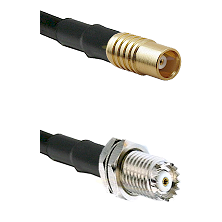 MCX Female on RG142 to Mini-UHF Female Cable Assembly