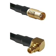 MCX Female To Right Angle MMCX Male Connectors RG179 75 Ohm Cable Assembly