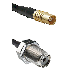 MCX Female To UHF Female Bulk Head Connectors RG188 Cable Assembly