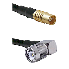 MCX Female On RG400 To Right Angle TNC Male Connectors Coaxial Cable