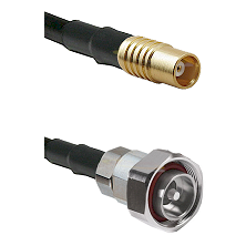 MCX Female on RG58C/U to 7/16 Din Male Cable Assembly