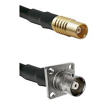 MCX Female on RG58C/U to C 4 Hole Female Cable Assembly