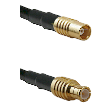 MCX Female on RG58C/U to MCX Male Cable Assembly