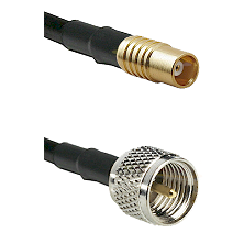 MCX Female on RG58C/U to Mini-UHF Male Cable Assembly