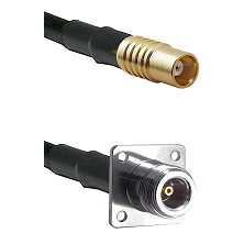 MCX Female on RG58C/U to N 4 Hole Female Cable Assembly