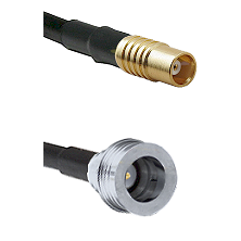 MCX Female on RG58C/U to QN Male Cable Assembly