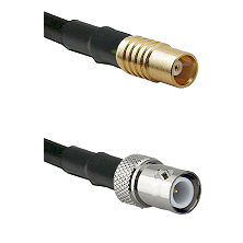 MCX Female on RG58C/U to BNC Reverse Polarity Female Cable Assembly