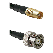 MCX Female on RG58C/U to BNC Reverse Polarity Male Cable Assembly