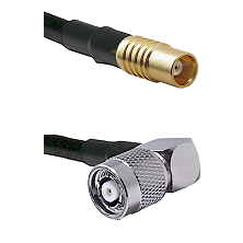 MCX Female on RG58C/U to TNC Reverse Polarity Right Angle Male Cable Assembly