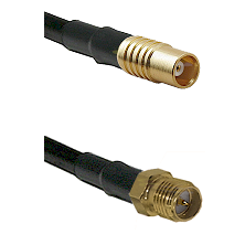 MCX Female on RG58C/U to SMA Reverse Polarity Female Cable Assembly