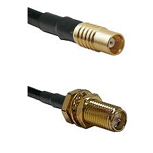 MCX Female on RG58C/U to SMA Reverse Polarity Female Bulkhead Cable Assembly