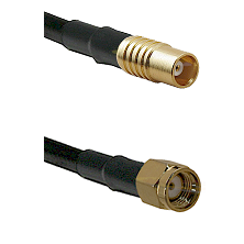 MCX Female on RG58C/U to SMA Reverse Polarity Male Cable Assembly