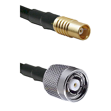 MCX Female on RG58C/U to TNC Reverse Polarity Male Cable Assembly
