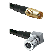 MCX Female on RG58C/U to QMA Right Angle Male Cable Assembly