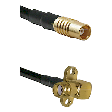 MCX Female on RG58C/U to SMA 2 Hole Right Angle Female Cable Assembly