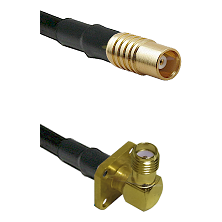 MCX Female on RG58C/U to SMA 4 Hole Right Angle Female Cable Assembly
