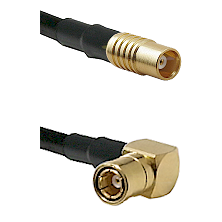 MCX Female on RG58C/U to SMB Right Angle Female Cable Assembly