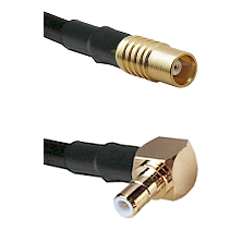 MCX Female on RG58C/U to SMB Right Angle Male Cable Assembly