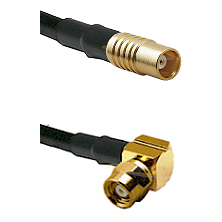 MCX Female on RG58C/U to SMC Right Angle Female Cable Assembly