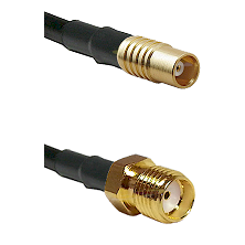 MCX Female on RG58C/U to SMA Reverse Thread Female Cable Assembly