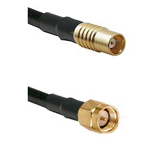 MCX Female on RG58C/U to SMA Reverse Thread Male Cable Assembly