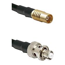 MCX Female on RG58C/U to SHV Plug Cable Assembly