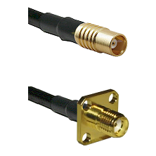 MCX Female on RG58C/U to SMA 4 Hole Female Cable Assembly