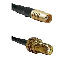 MCX Female on RG58C/U to SMA Female Bulkhead Cable Assembly