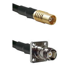 MCX Female on RG58C/U to TNC 4 Hole Female Cable Assembly