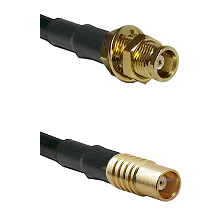 MCX Female Bulkhead on LMR100 to MCX Female Cable Assembly