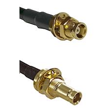 MCX Female Bulkhead on RG142 to 10/23 Female Bulkhead Cable Assembly