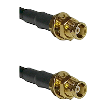 MCX Female Bulkhead on RG142 to MCX Female Bulkhead Cable Assembly