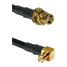 MCX Female Bulkhead on RG188 to MCX Right Angle Male Cable Assembly