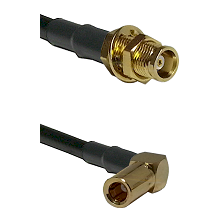 MCX Female Bulkhead on RG188 to SSLB Right Angle Female Cable Assembly