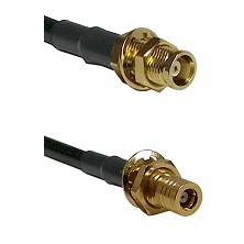 MCX Female Bulkhead on RG188 to SSLB Female Bulkhead Cable Assembly
