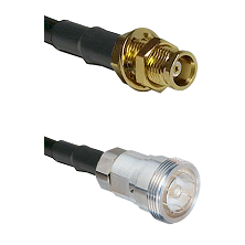 MCX Female Bulkhead on RG58C/U to 7/16 Din Female Cable Assembly