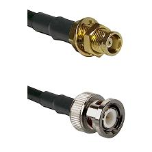 MCX Female Bulkhead on RG58C/U to BNC Male Cable Assembly