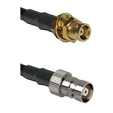 MCX Female Bulkhead on RG58C/U to C Female Cable Assembly