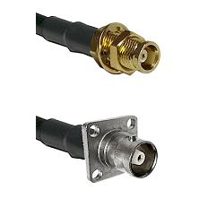 MCX Female Bulkhead on RG58C/U to C 4 Hole Female Cable Assembly