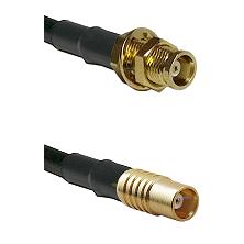 MCX Female Bulkhead on RG58C/U to MCX Female Cable Assembly