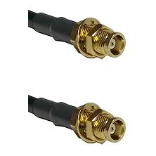 MCX Female Bulkhead on RG58C/U to MCX Female Bulkhead Cable Assembly